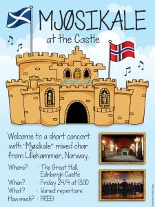 Konsert på Edinburgh Castle - kortur 2015!